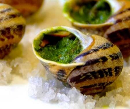 escargots farcis beurre ail