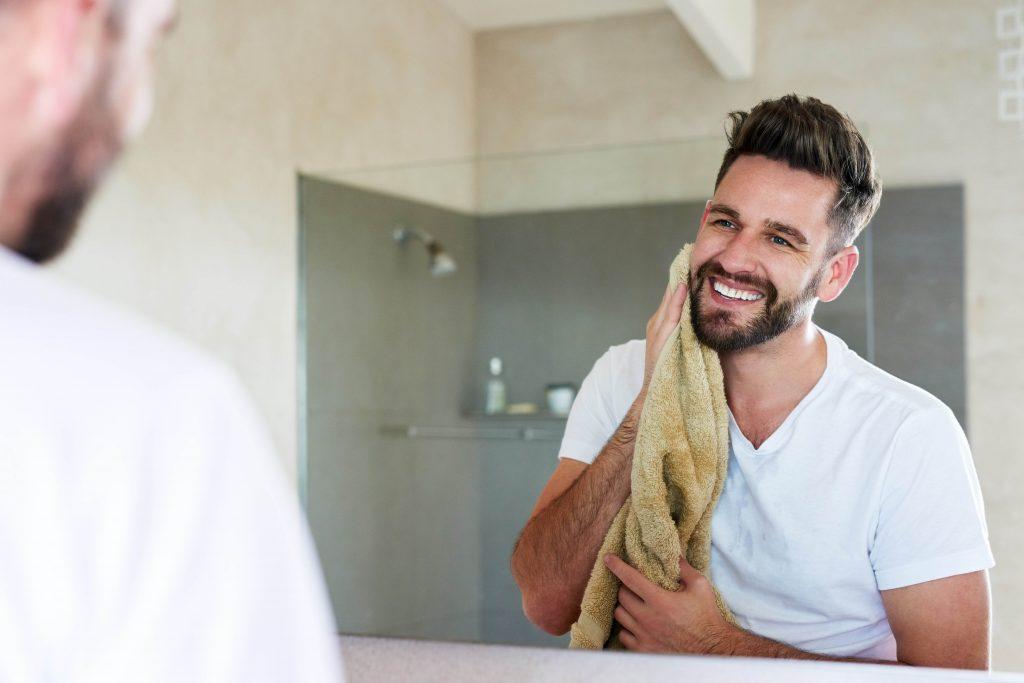 sèchage peau serviette